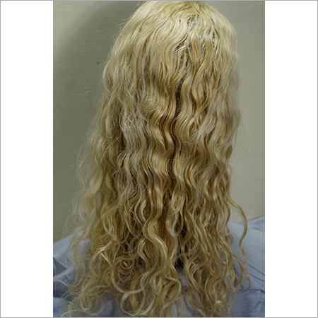 Front Lace Curly Blonde Wig