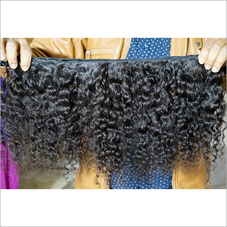 Natural Tight Curly Temple Hair