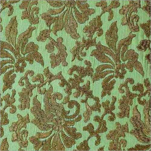 Ladies Zari Work Silk Fabric