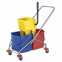 Double Bucket Cleaning Trolley
