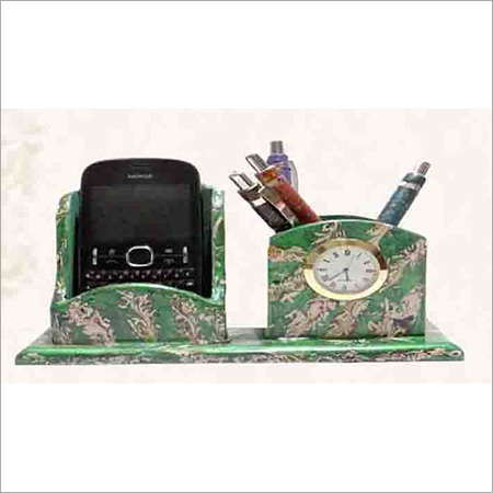 Pen Stand with watch and Mobile Holder