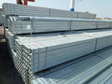 Hot Dipped Hollow Section Tube Galvanized Ms Square Steel Pipe