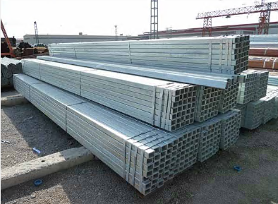 Rectangular Hollow Section steel Hot dipped Galvanized Steel square Pipe / Square Tube