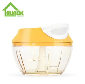 Ourok kitchen tools mini hand pull onion garlic vegetable fruit shredder chopper for home use A007(yellow)