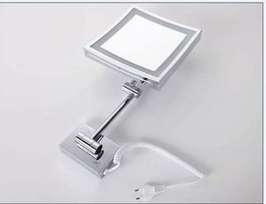 Square Makeup Mirror with LED