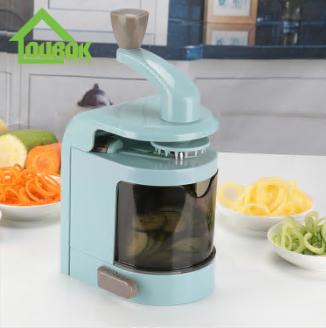 Plastic multifunctional manual vegetable spiralizer slicer for kitchen C327
