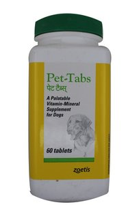 PET TABS 60S-VITAMIN-MINERAL SUPPLEMENT