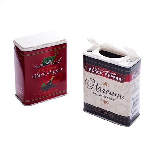 Black Pepper Tin Container