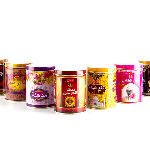 Printed Dhoop Metal Container
