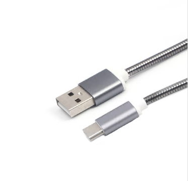 usb c cable, metal plugs, metal braided