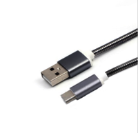 usb c cable, metal plugs, metal braided
