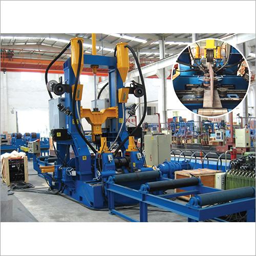 H Beam Assembling Welding Straightening Integrated Machine