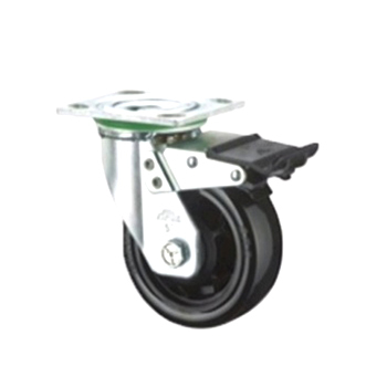 Heavy Duty Black Polyurethene Dbb Caster Wheels