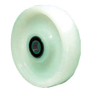 Pallet Steering Load Roller Wheels With Bearings Uhmpwe Nylon White