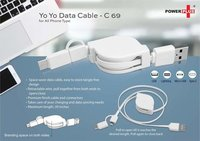 C69 - YO YO 3 IN 1 DATA & CHARGING CABLE (WITH USB C TYPE PORT)