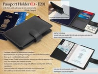 E201 \\342\\200\\223 PASSPORT HOLDER WITH SIM CARD SAFE CASE & SIM CARD JACKETS (L) (WIDE DESIGN)