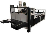 Carton Box Semi Auto Folder Gluer , Electric Driven Carton Folding And Gluing Machine