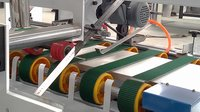 Semi Automatic Carton Folding Gluing Machine With Fan Airing Function