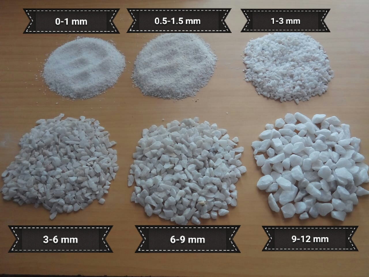 Marble chips for tiles industries