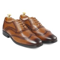 Men's Leather Shoes - Brown