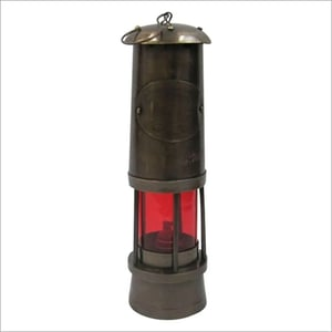 MINER LAMP Antique Finish Assorted Color RED