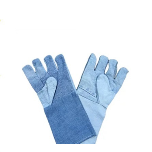 Jeans Fabric Safety Gloves