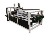 Semi Automatic Corrugated Box Folder Gluer Machine 12 Month Warranty