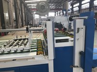 High Speed Durable Semi Auto Folder Gluer For Corrugated Carton Box