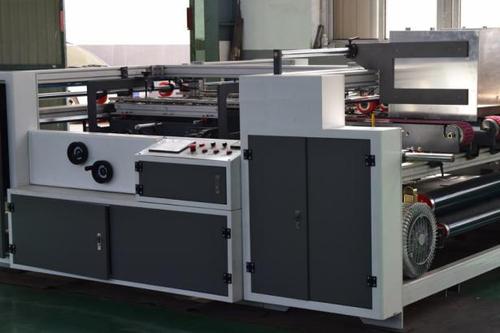 Paper Cardboard Semi Automatic Folder Gluer / Box Folder Gluer Machine 6.6kw