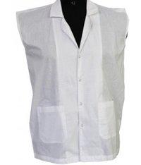 Sleeveless Coat White