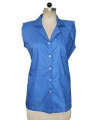 Sleeveless Coat Blue