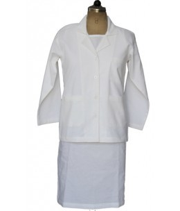 Female Coat Full Sleeve White