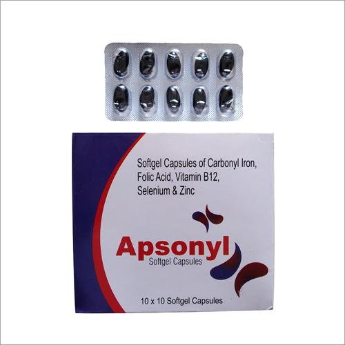 Carbonyl Iron Folic Acid  Vitamin B12  Selenium And Zinc Softgel Capsule