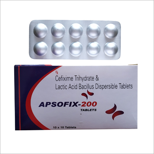 Cefixime Trihydrate And Lactic Acid Bacillus Dispersible Tablets