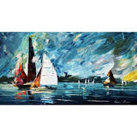 Abstract Ship Painting On Canvas