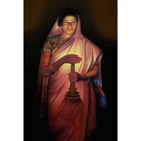 Lady With Lamp Historical Painting