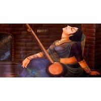 Beautiful Lady Art With Veena