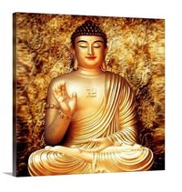 Colorful Buddha Square Painting