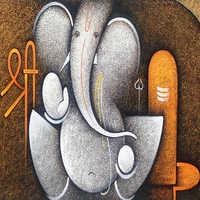 Lord Ganesha Painting Square