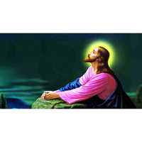Lord Jesus Painting In Dhyan Mudra