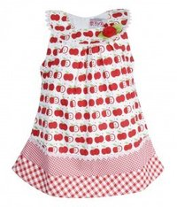 Elena Red & White Frock
