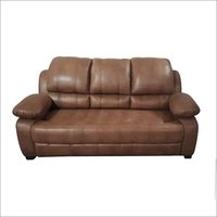 Leatherette Three Seater Sofa