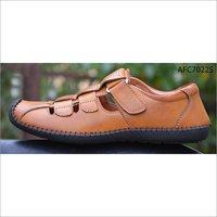 Mens Brown Leather Sandal