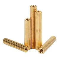 M2 Brass Knurled Pillars