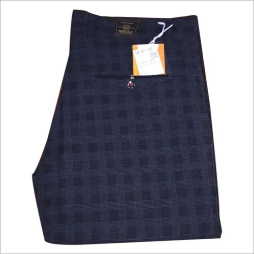 Mens Check Printed Trouser