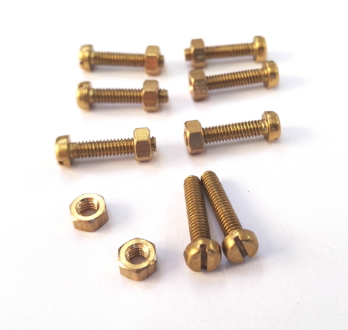 Brass Round Bolt With Nuts