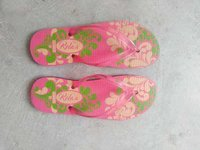 Rubber Pink printed slipper