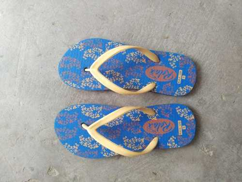 Blue printed slipper