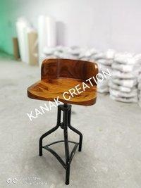 Rustic  bar stool wooden top