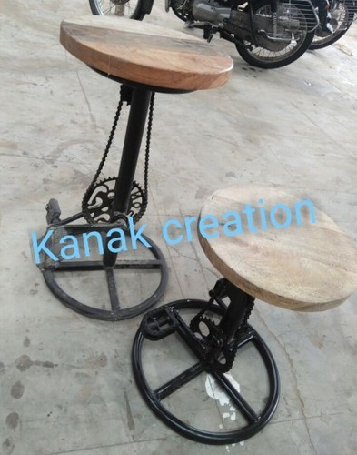 Two set of Iron Cycle Style Bar Stool